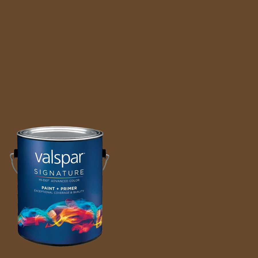 allen + roth Colors by Valspar Gallon Size Container Interior Semi-Gloss Pre-Tinted Cup Of Joe Latex-Base Paint and Primer in One (Actual Net Contents: 127.79-fl oz)