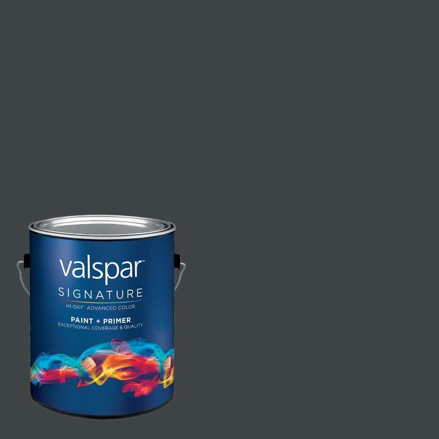 allen + roth Colors by Valspar Gallon Size Container Interior Semi-Gloss Pre-Tinted Tuxedo Tie Latex-Base Paint and Primer in One (Actual Net Contents: 128.04-fl oz)