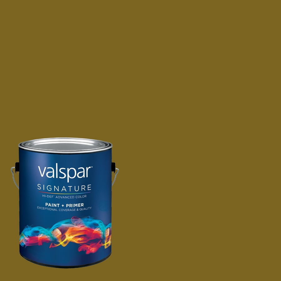 allen + roth Colors by Valspar Gallon Size Container Interior Semi-Gloss Pre-Tinted Brown Derby Hat Latex-Base Paint and Primer in One (Actual Net Contents: 123.23-fl oz)
