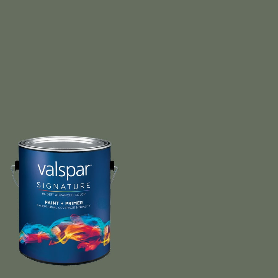 allen + roth Colors by Valspar Gallon Size Container Interior Semi-Gloss Pre-Tinted Pier 14 Latex-Base Paint and Primer in One (Actual Net Contents: 126.61-fl oz)