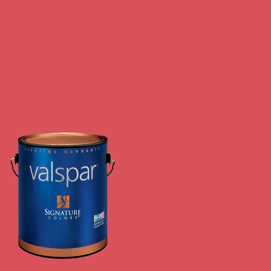 Valspar Gallon Size Container Interior Satin Pre-Tinted Whipped Strawberry Latex-Base Paint and Primer in One (Actual Net Contents: 129.72-fl oz)