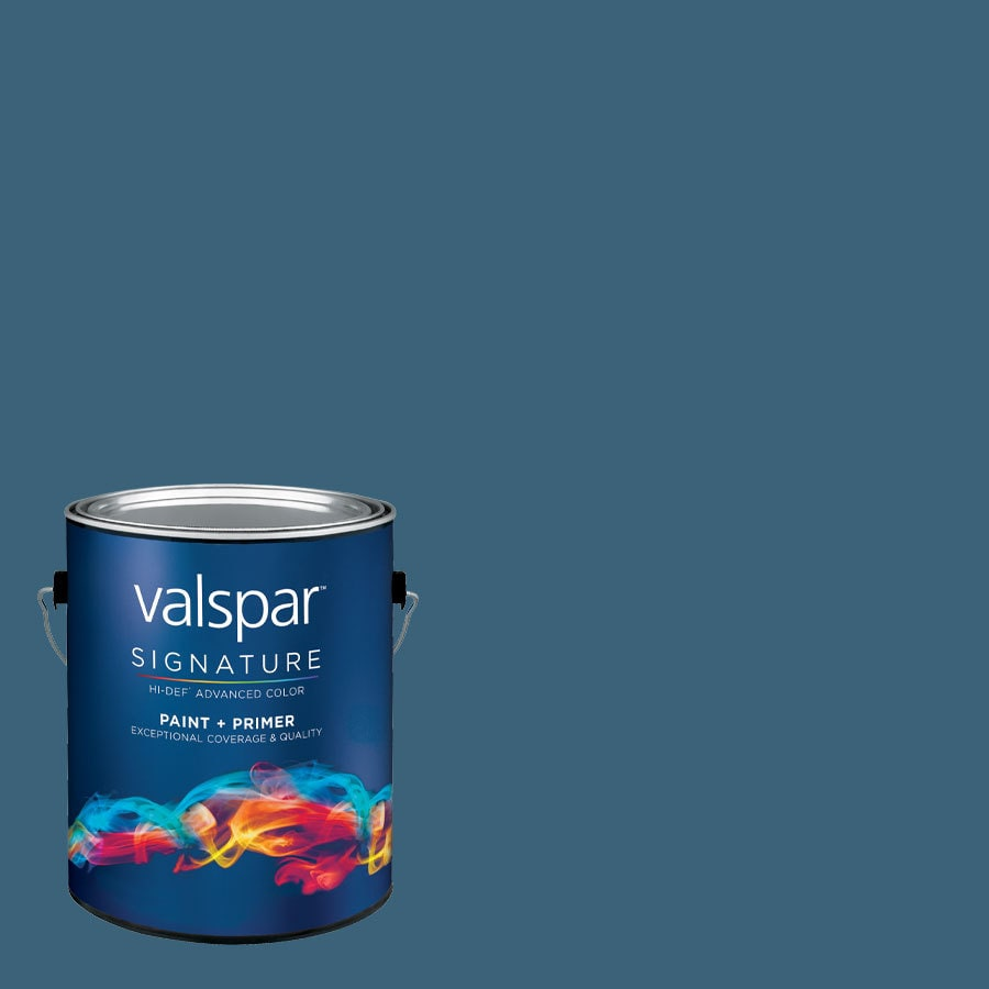 Valspar Deep Sea Diving Satin Latex Interior Paint and Primer in One (Actual Net Contents: 128.37-fl oz)