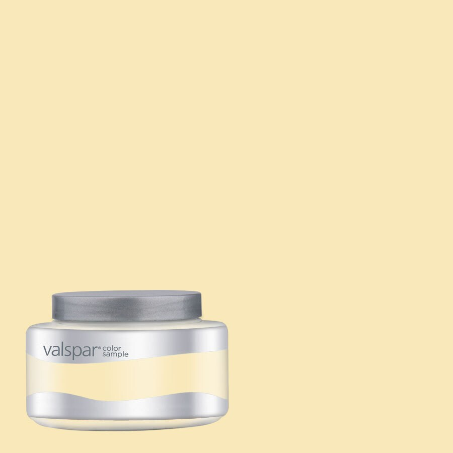 Valspar Pantone Pastel Yellow Interior Satin Paint Sample (Actual Net Contents: 8.04-fl oz)