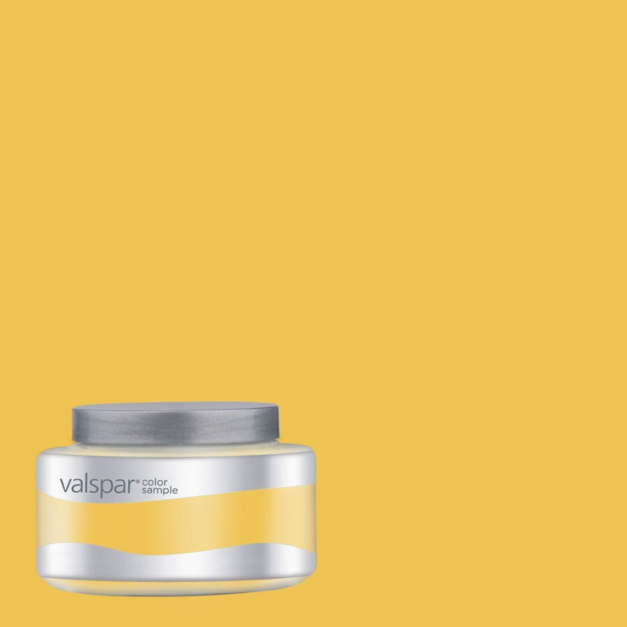Valspar Pantone Primrose Yellow Interior Satin Paint Sample (Actual Net Contents: 8.01-fl oz)