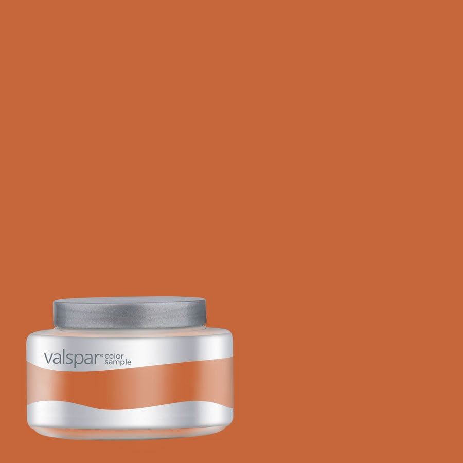 Shop valspar pantone burnt orange interior satin paint Orange paint samples