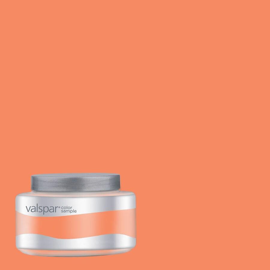 Valspar Pantone Nectarine Interior Satin Paint Sample (Actual Net Contents: 8.01-fl oz)
