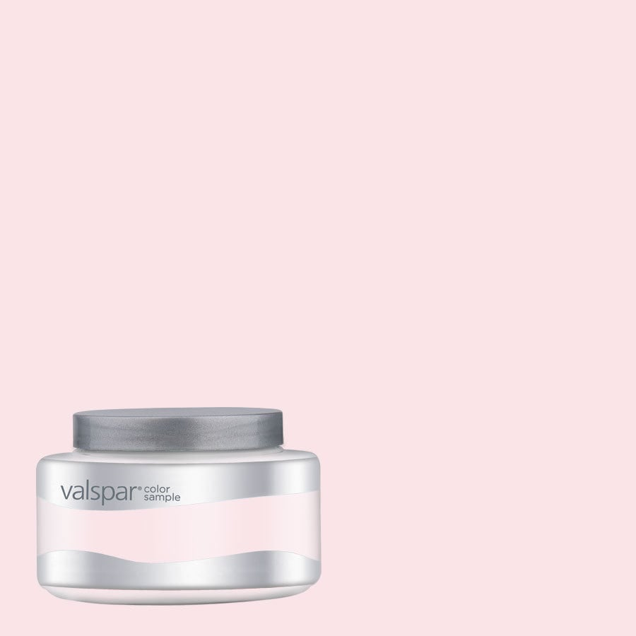 Valspar Pantone Barely Pink Interior Satin Paint Sample (Actual Net Contents: 8.01-fl oz)