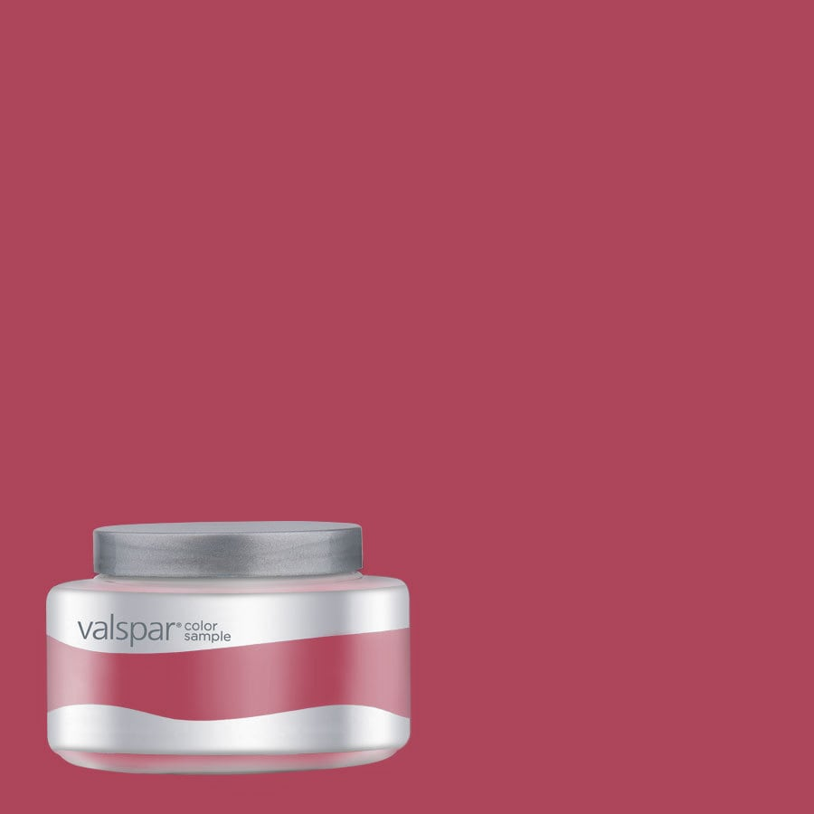 Valspar Pantone Raspberry Wine Interior Satin Paint Sample (Actual Net Contents: 7.99-fl oz)
