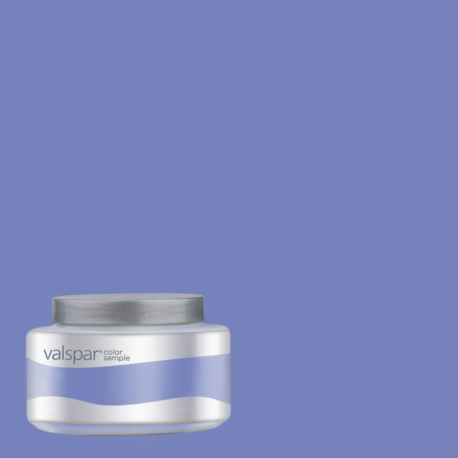 Valspar Pantone Deep Periwinkle Interior Satin Paint Sample Actual Net Contents 8 01 Fl Oz