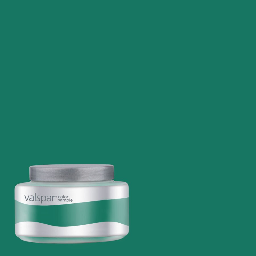 Valspar Pantone Ultramarine Green Interior Satin Paint Sample (Actual Net Contents: 8-fl oz)