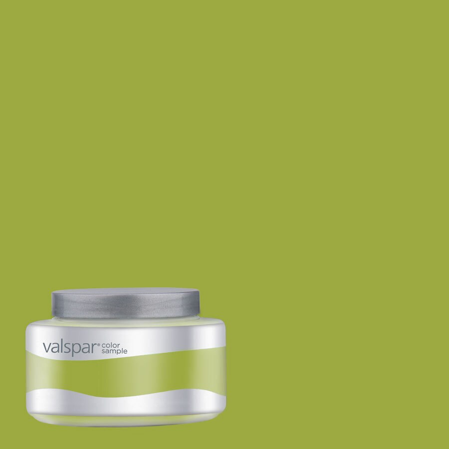 Valspar Pantone Macaw Green Interior Satin Paint Sample (Actual Net Contents: 7.99-fl oz)