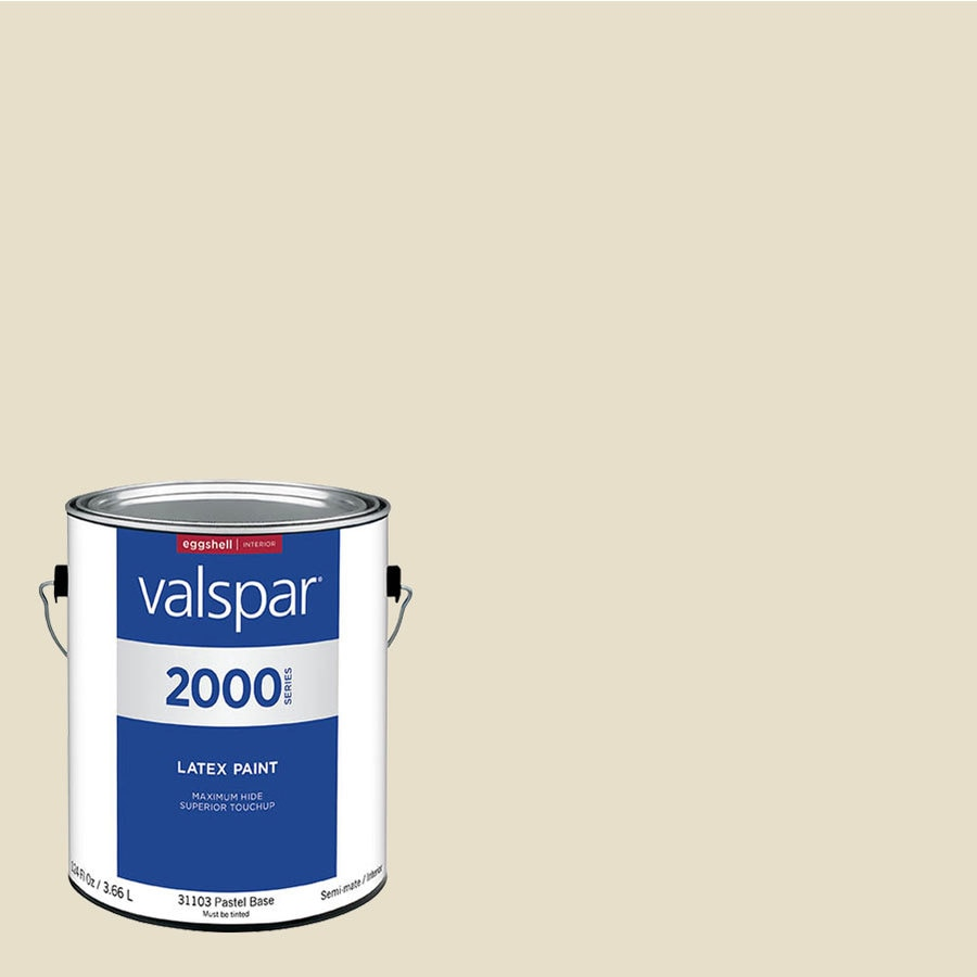Valspar Pro 2000 Antique White Eggshell Latex Interior Paint Actual Net Contents 124