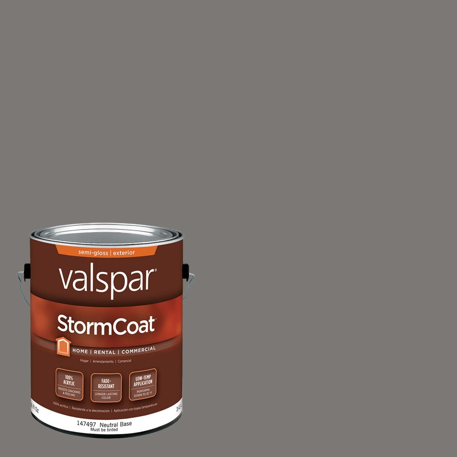Shop Valspar Stormcoat Rugged Suede Semi Gloss Acrylic Exterior Paint Actual Net Contents 116