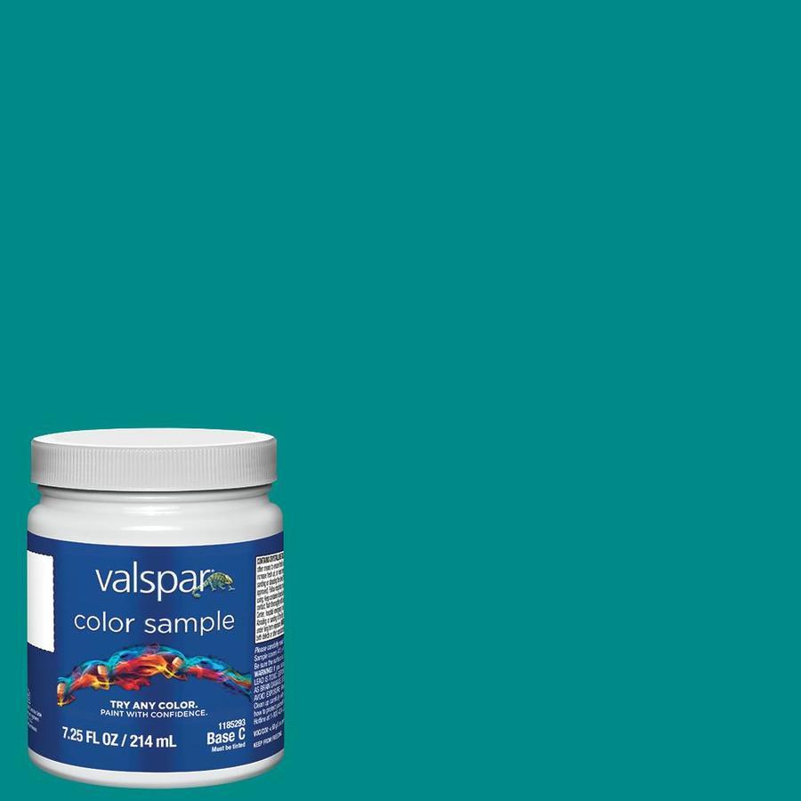 Valspar Blue Turquoise Interior Paint Sample Actual Net Contents 8 Fl Oz