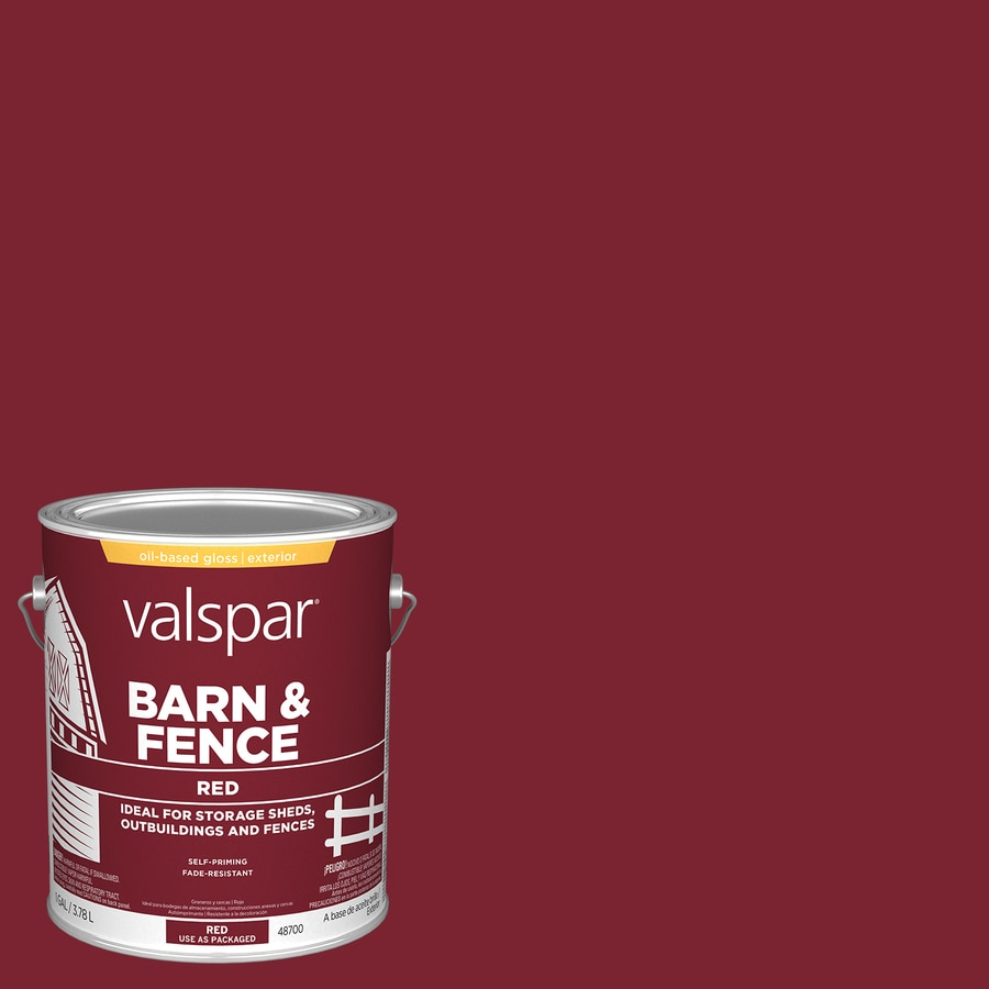 Valspar Barn and Fence Red Gloss Exterior Paint (Actual Net Contents: 128-fl oz)