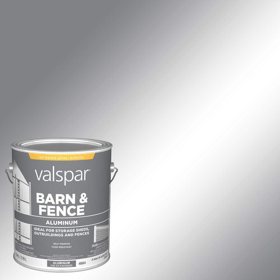 Valspar Heavy Duty Aluminum Satin Oil Based Exterior Paint (Actual Net  Contents: 128