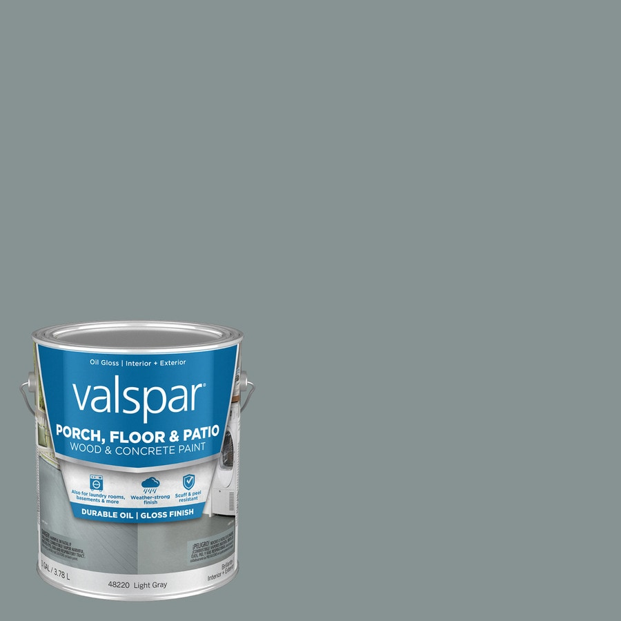 Shop Valspar Light Gray Gloss Interior Exterior Porch And Floor Paint Actual Net Contents 128