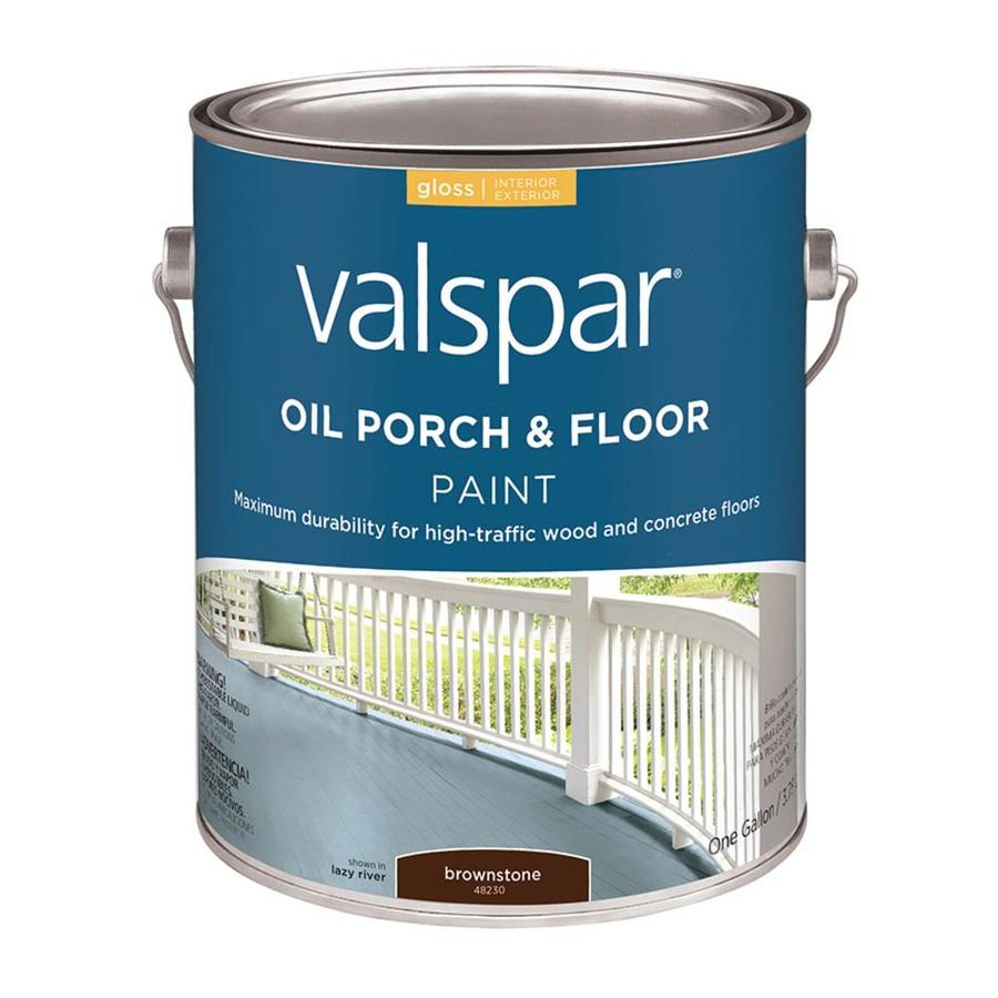 Shop Valspar Porch And Floor Brownstone Gloss Oil Based