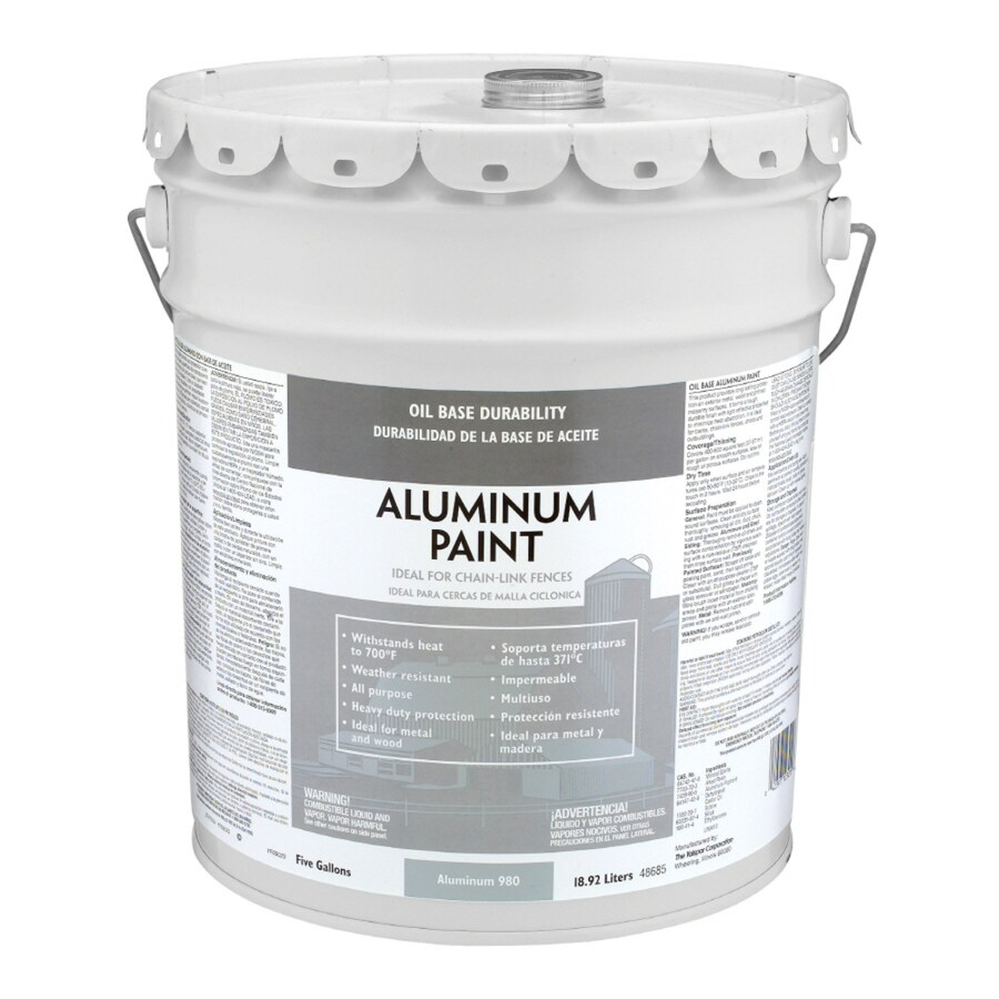 Captivating Valspar Heavy Duty Aluminum Satin Oil Based Exterior Paint (Actual Net  Contents: 640