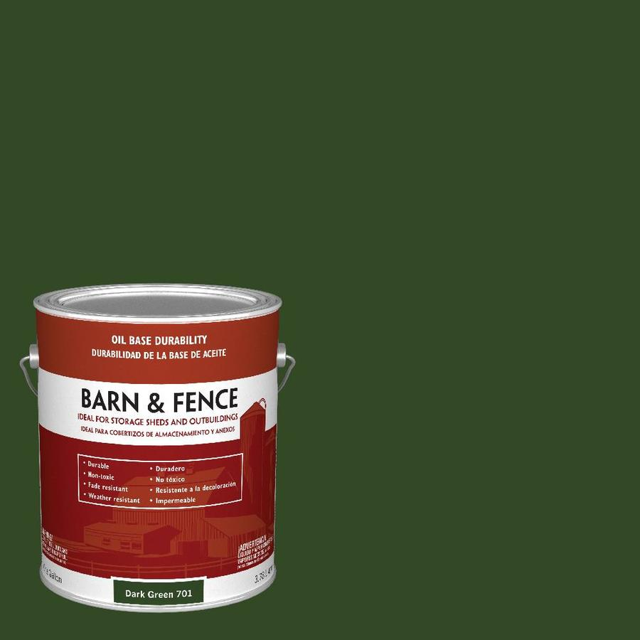 Shop Valspar Barn and Fence Green Gloss OilBased Exterior Paint