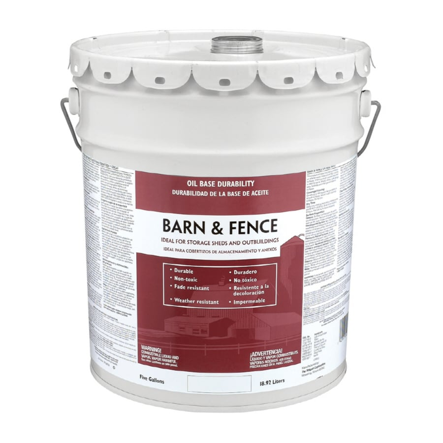 Shop Valspar Barn and Fence Red Gloss OilBased Exterior Paint