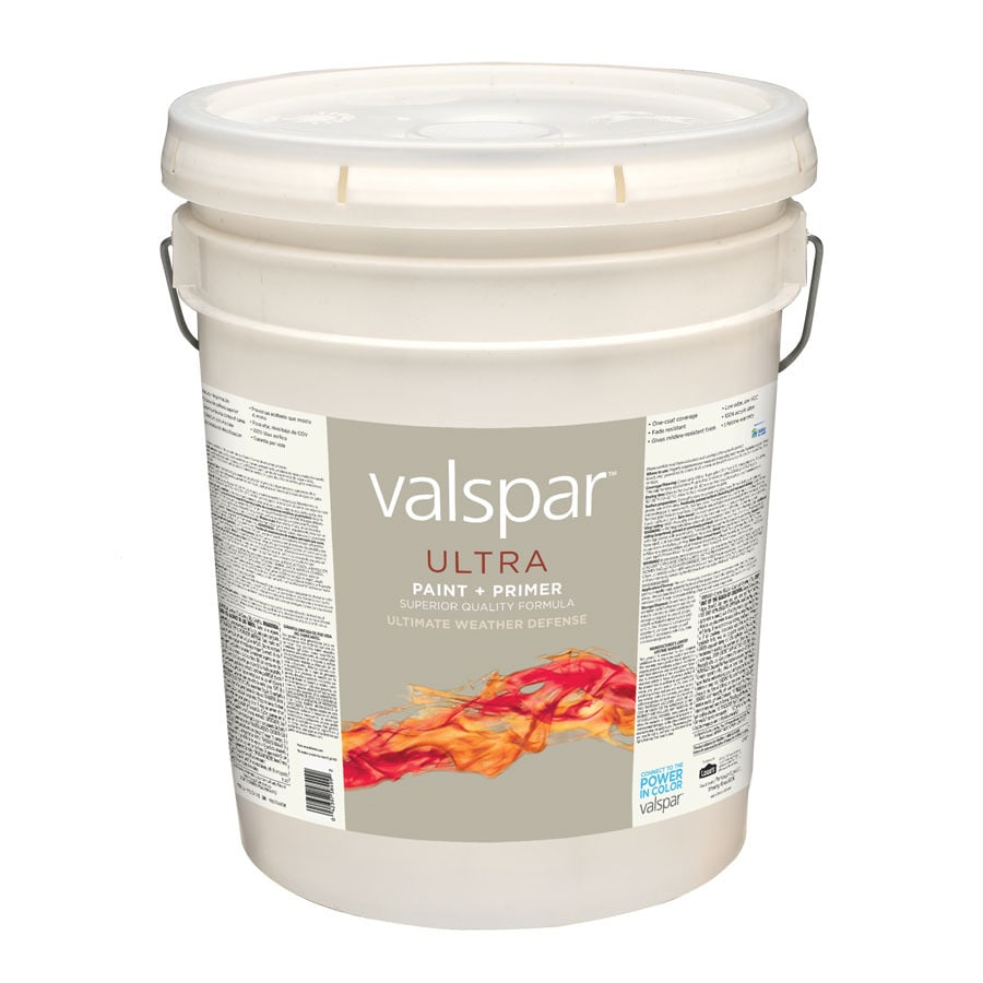 Valspar 5 Gallon Size Container Exterior Satin Tintable Latex-Base Paint and Primer in One (Actual Net Contents: 630-fl oz)