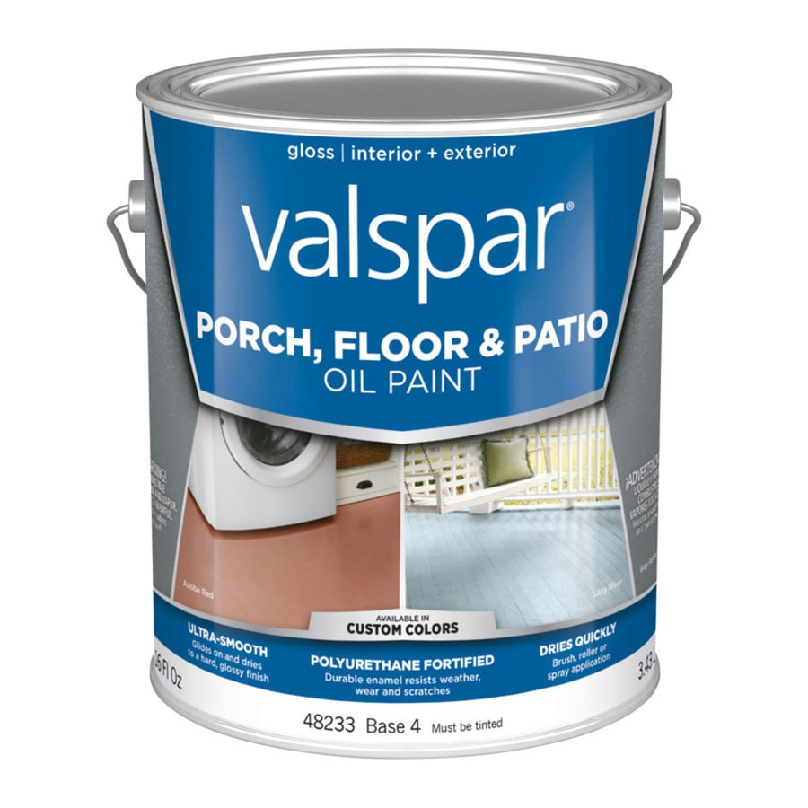 Valspar Base 4 Tintable Gloss Interior/Exterior Porch and Floor Paint (Actual Net Contents: 116-fl oz)