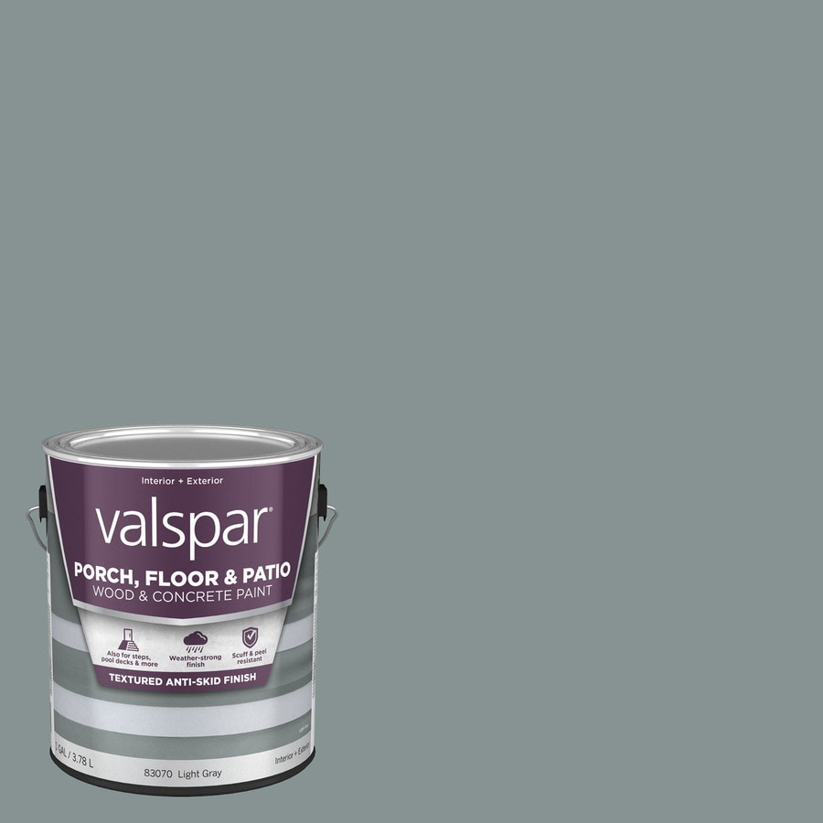 Valspar Light Gray Satin Interior/Exterior Anti-Skid Porch and Floor Paint (Actual Net Contents: 128 Fluid Ounce(S))