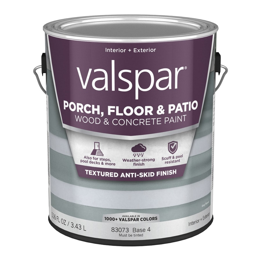 Valspar Base 4 Tintable Satin Interior/Exterior Anti-Skid Porch and Floor Paint (Actual Net Contents: 116-fl oz)