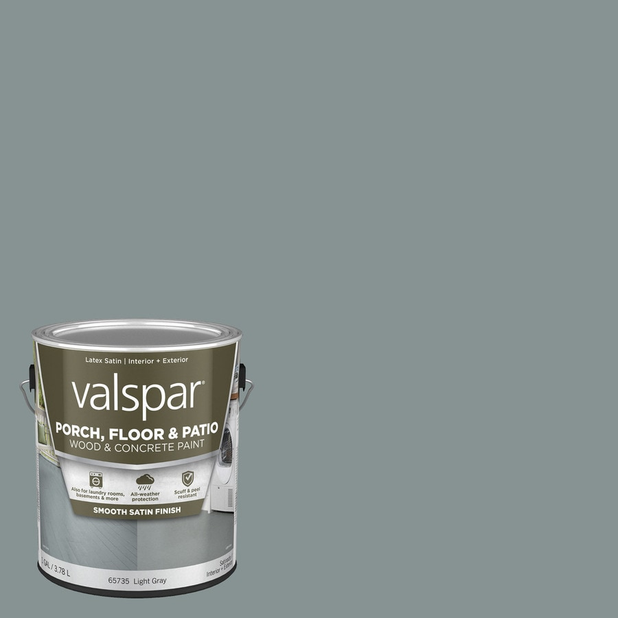 Valspar Light Gray Satin Interior/Exterior Porch and Floor Paint (Actual Net Contents: 128-fl oz)