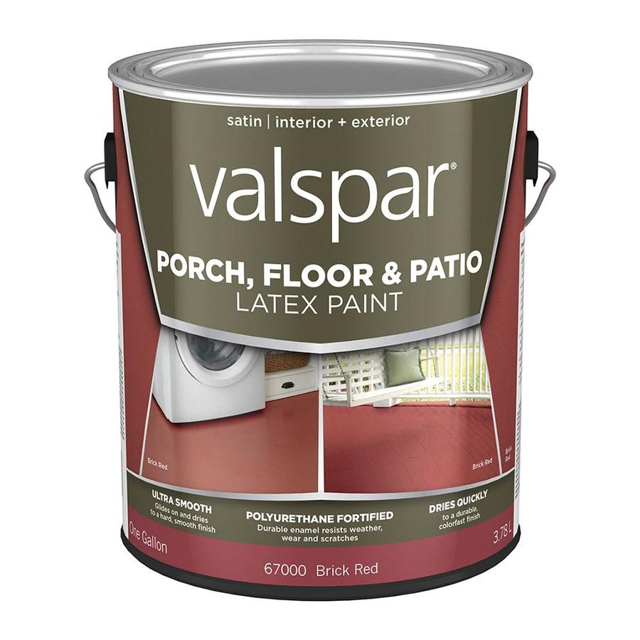 Valspar Tile Red Satin Interior/Exterior Porch And Floor Paint (Actual Net  Contents: