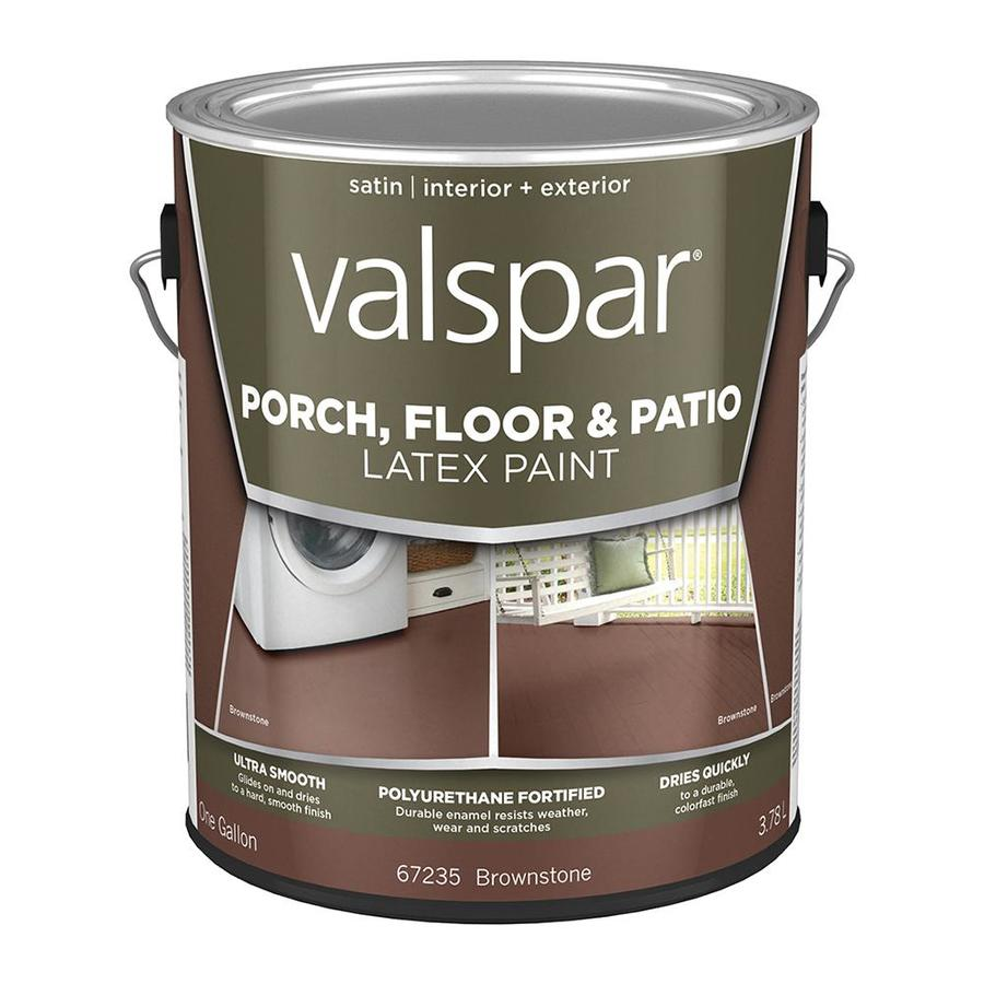 Valspar Porch and Floor Brownstone Satin Interior/Exterior Paint (Actual Net Contents: 128-fl oz)