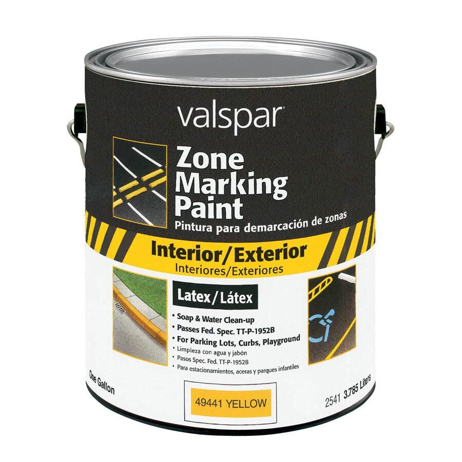 Shop Valspar Quart Exterior Flat Blue Zone Marking Paint At