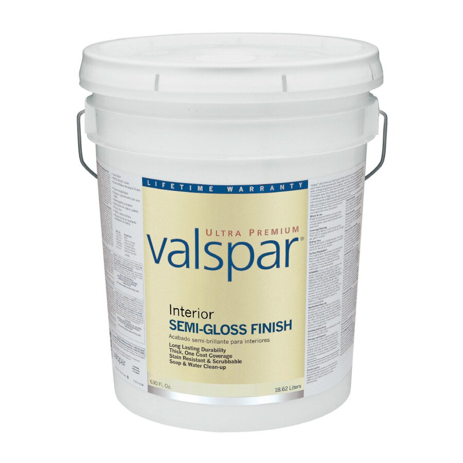 Valspar Ultra Premium 5-Gallon Interior Semi-Gloss Ultra White Latex-Base Paint