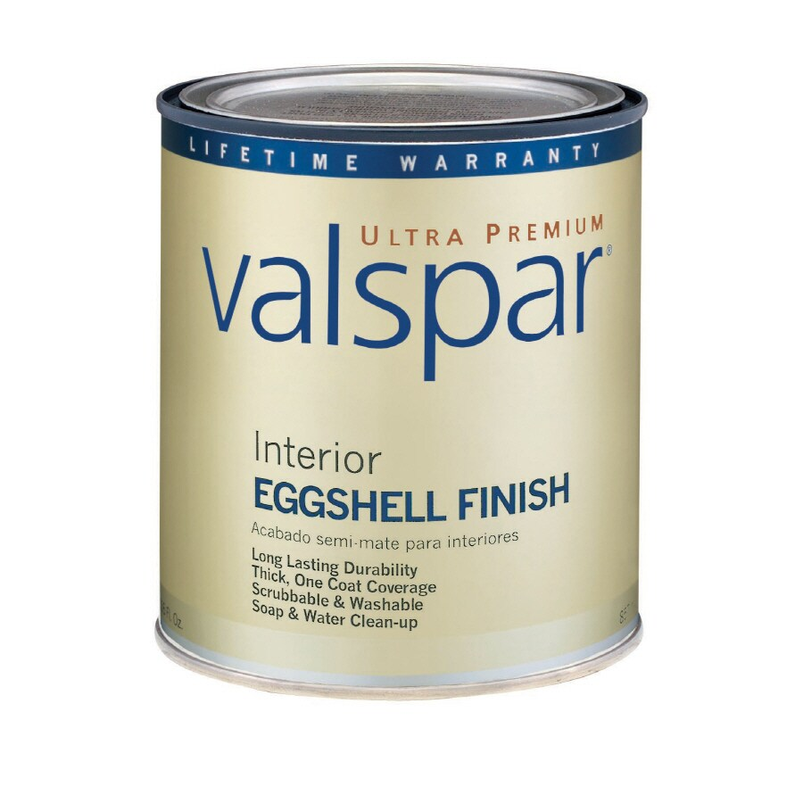 Valspar Ultra Premium 1-Quart Interior Eggshell Ultra White Latex-Base Paint