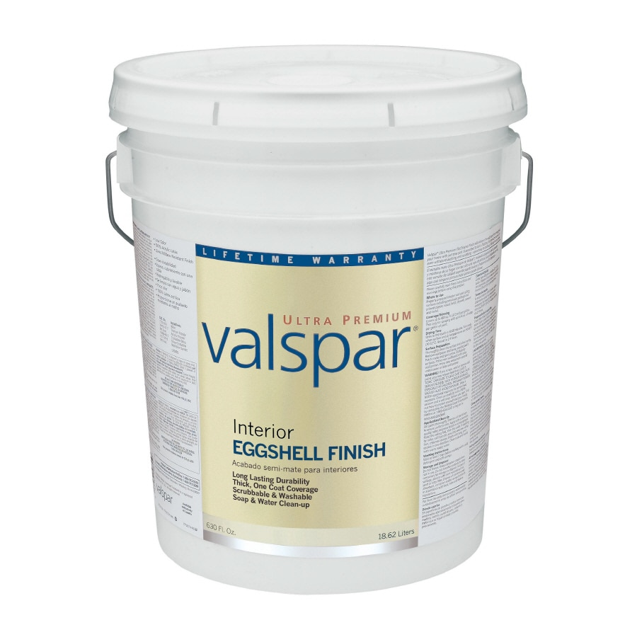 Valspar Ultra Premium 5-Gallon Interior Eggshell Ultra White Latex-Base Paint