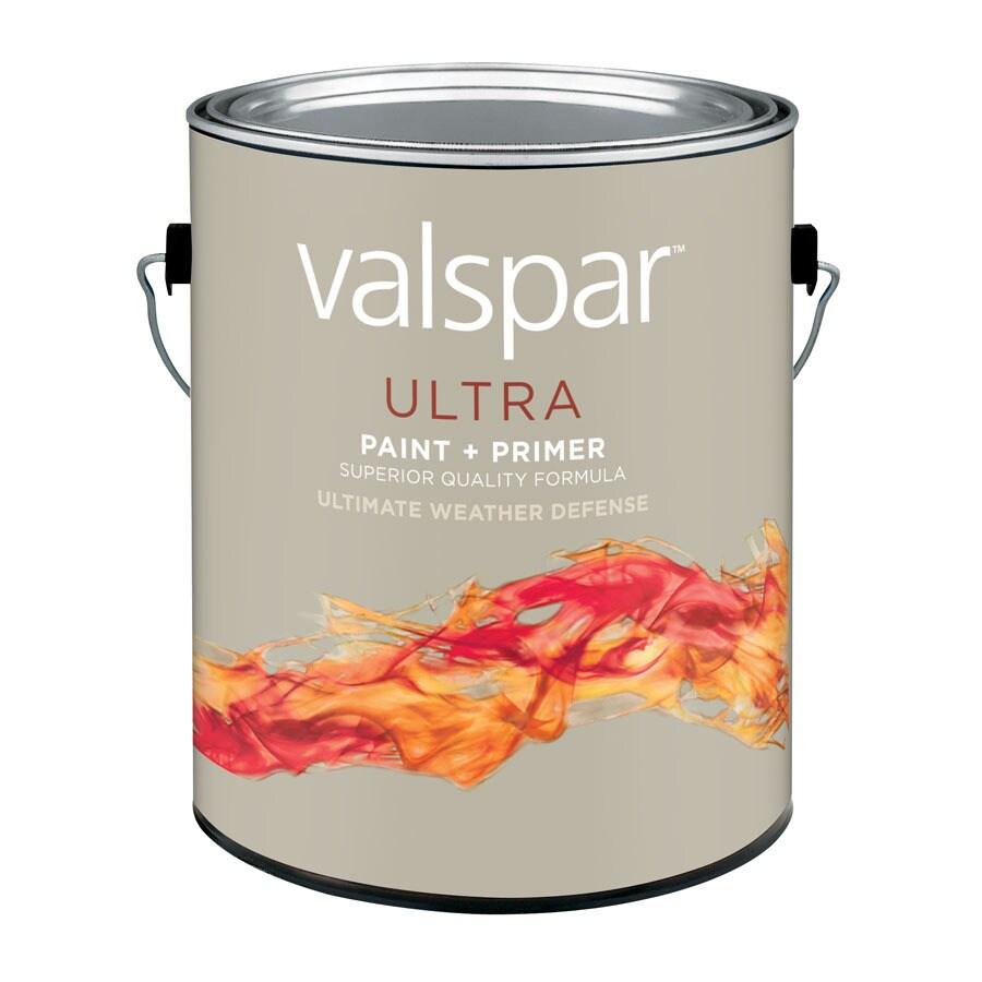 Valspar White Flat Latex Exterior Paint (Actual Net Contents: 128-fl oz)