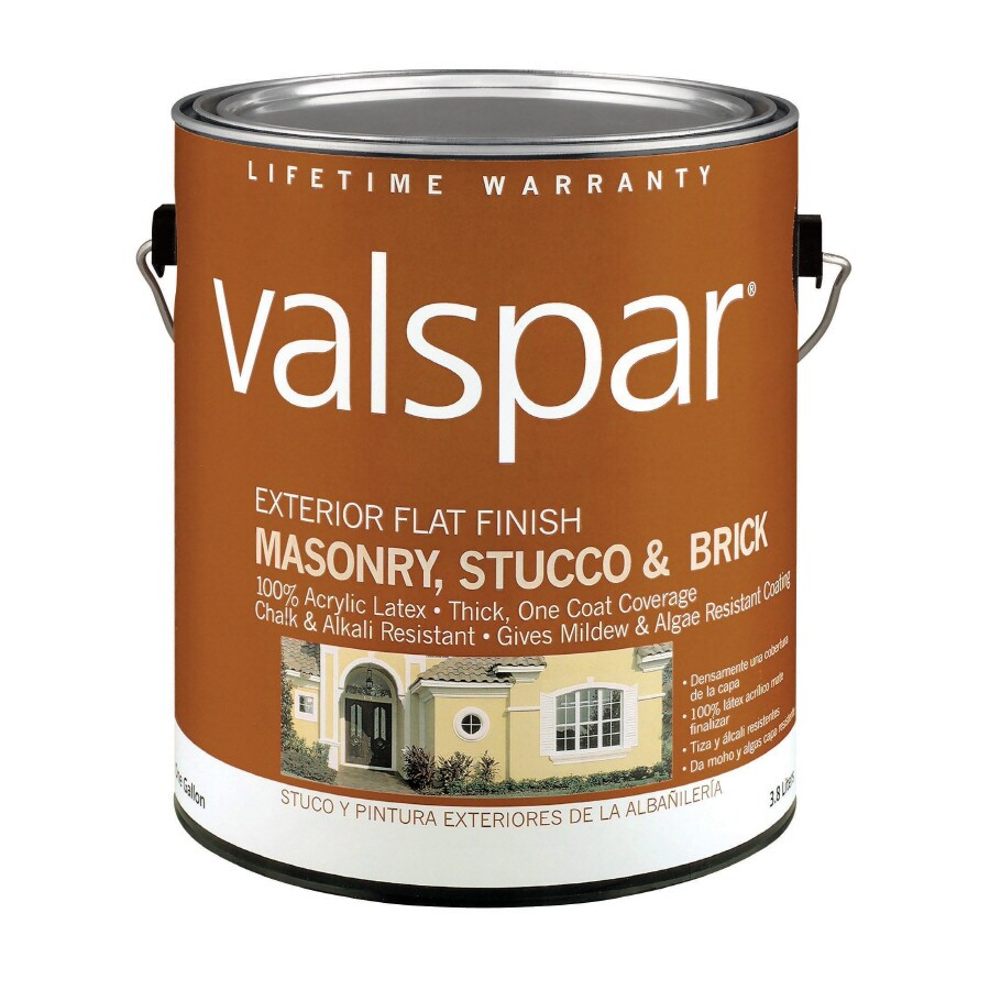 Valspar Gallon Size Container Exterior Flat Tintable Latex-Base Paint (Actual Net Contents: 124-fl oz)