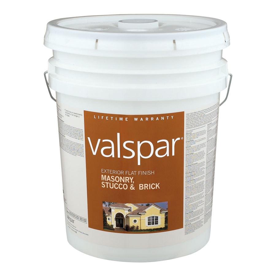 Shop Valspar 5 Gallon Size Container Exterior Flat Tintable Latex Base Paint Actual Net