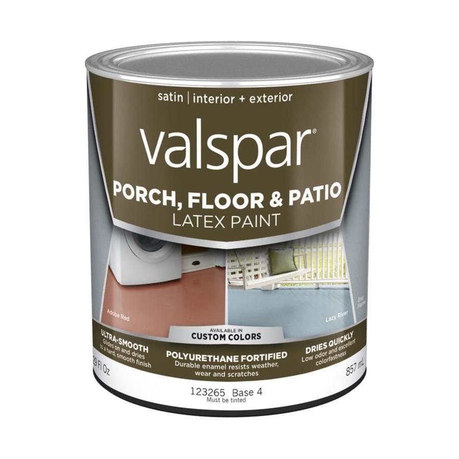 Valspar Base 4 Tintable Satin Interior/Exterior Porch and Floor Paint (Actual Net Contents: 29-fl oz)