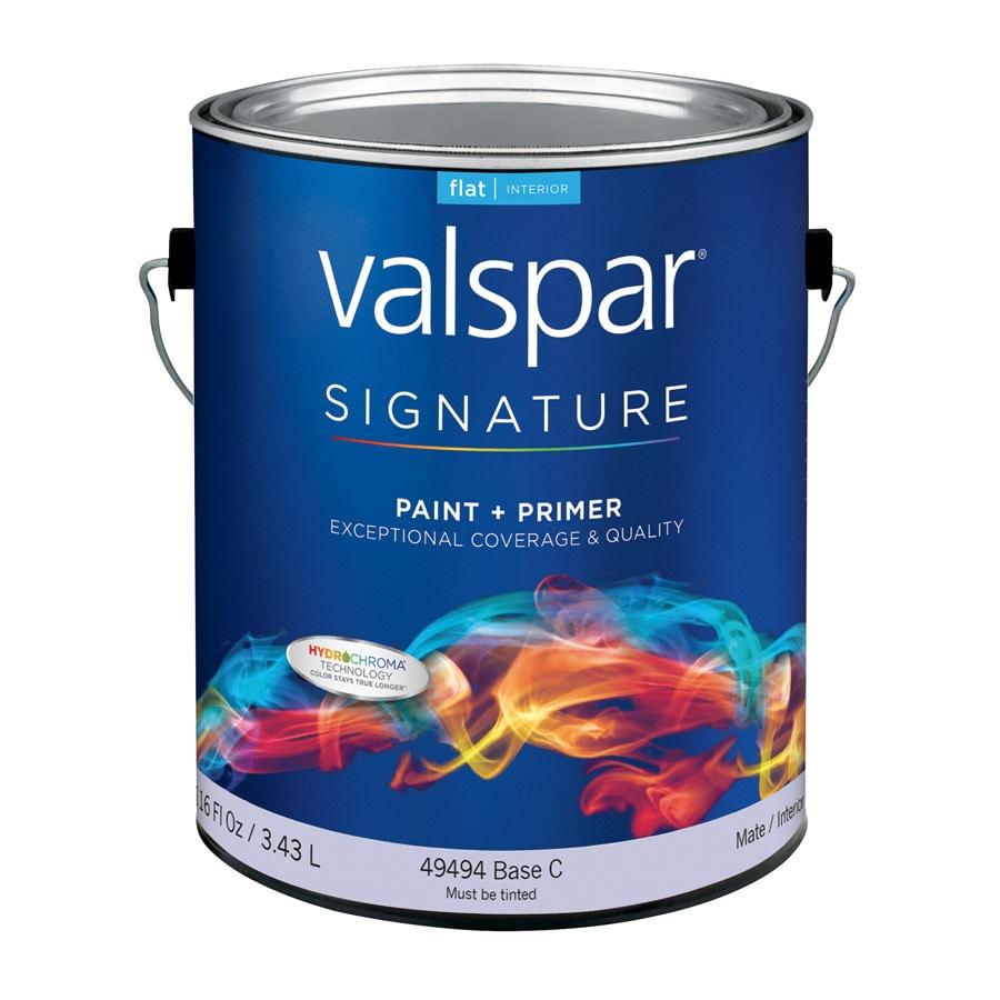 Valspar Signature White Flat Latex Interior Paint and Primer in One (Actual Net Contents: 116-fl oz)