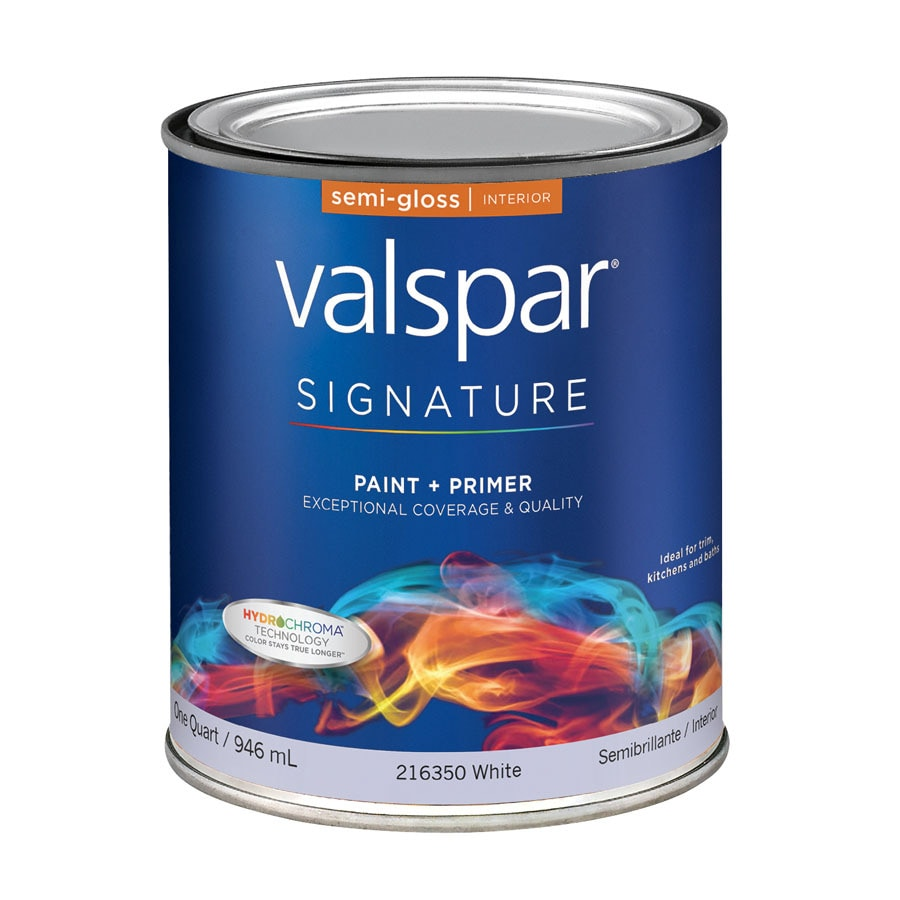 Valspar Signature White Semi-Gloss Latex Interior Paint and Primer in One (Actual Net Contents: 32-fl oz)