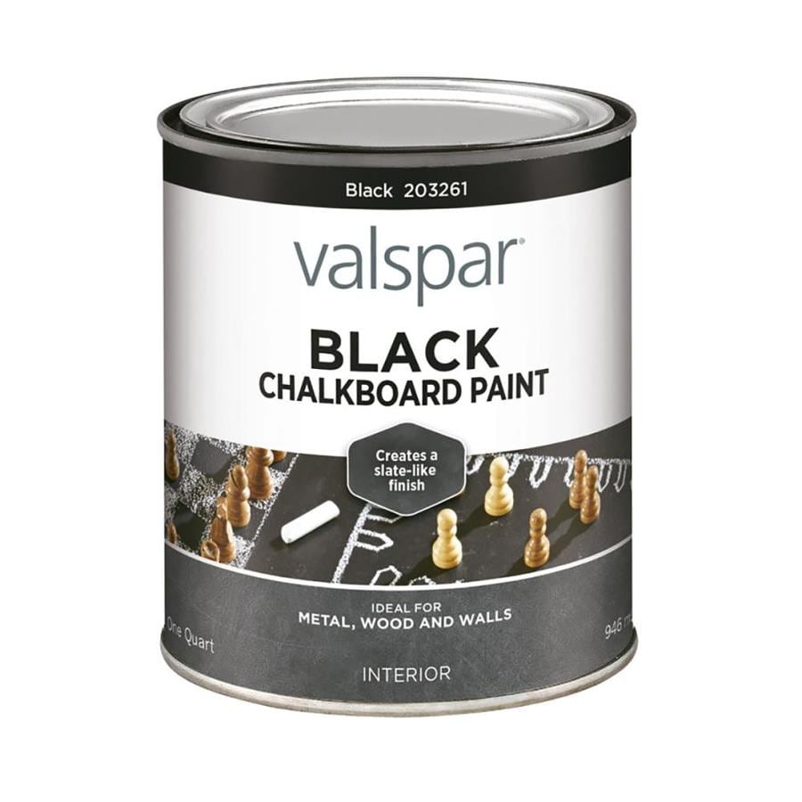 Shop Valspar Black Latex Chalkboard Paint Actual Net Contents 32 Oz At Lowes Com