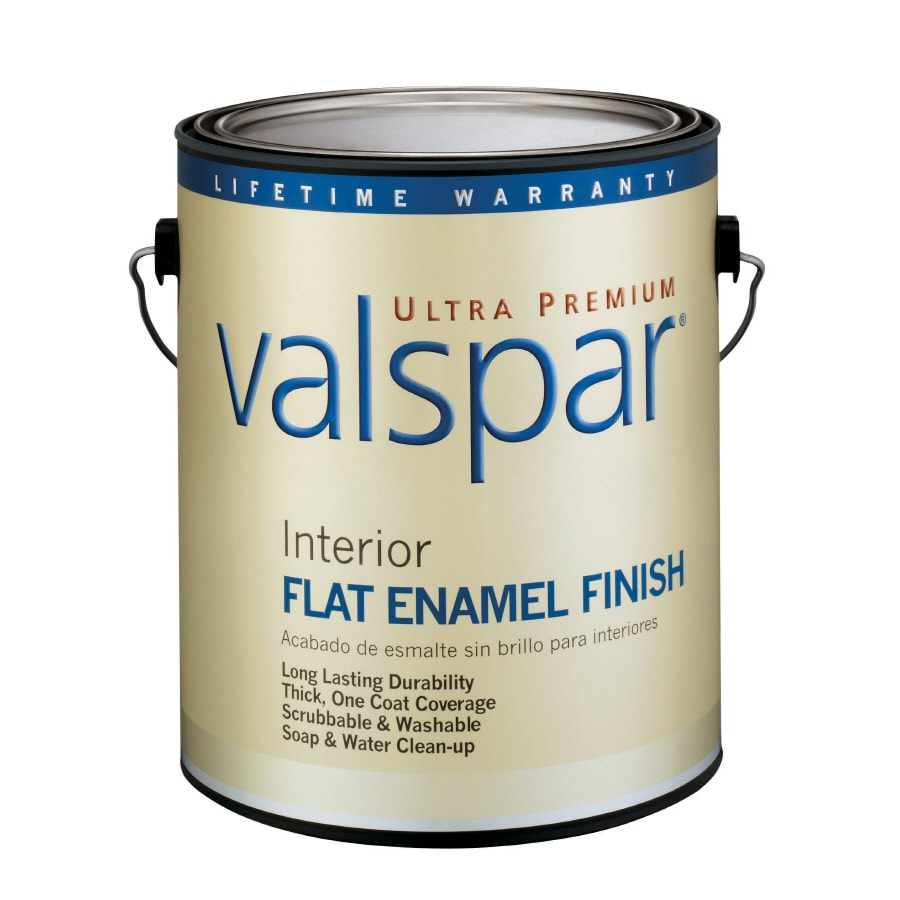 Valspar Ultra Premium 1-Gallon Interior Flat Enamel White Latex-Base Paint