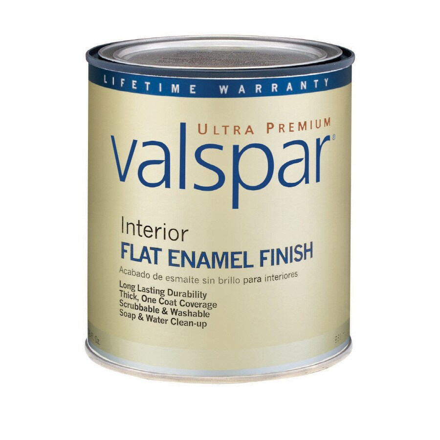 Valspar Ultra Premium 1-Quart Interior Flat Enamel Tintable Latex-Base Paint
