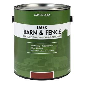 High Quality Valspar Barn And Fence Red Flat Latex Exterior Paint (Actual Net Contents:  128