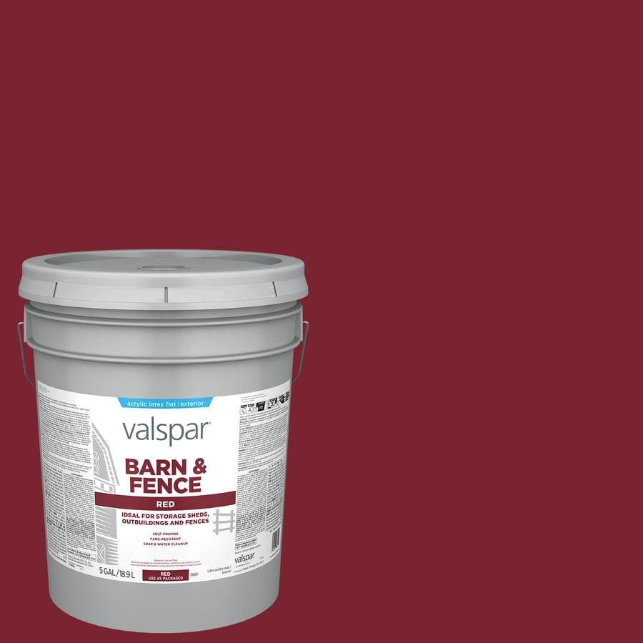 Valspar Barn and Fence Red Flat Latex Exterior Paint (Actual Net Contents: 640-fl oz)