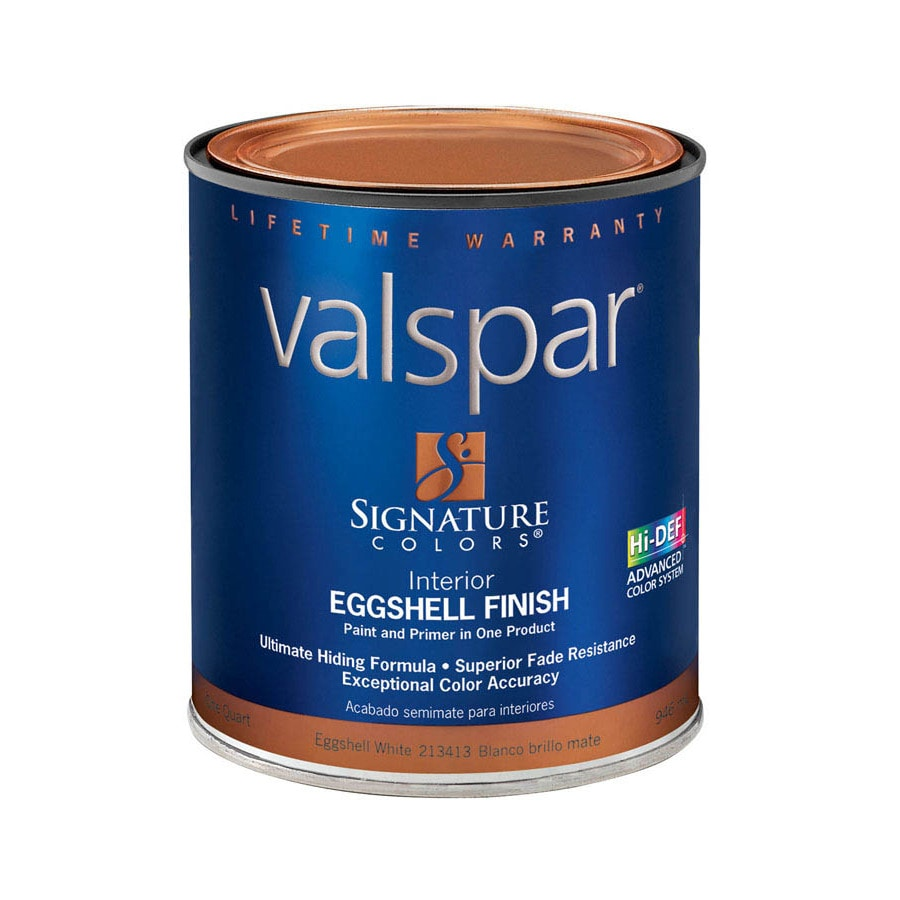 Valspar Signature Colors White Eggshell Latex Interior Paint and Primer in One (Actual Net Contents: 32-fl oz)