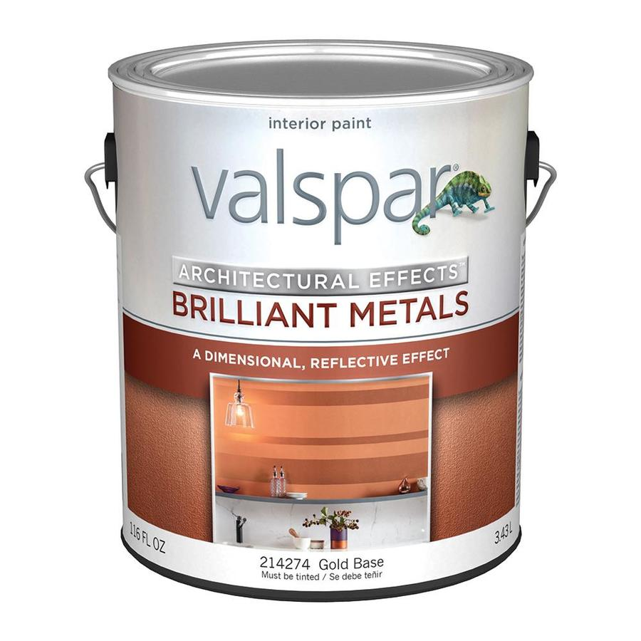 Shop Valspar Brilliant Metals Gold Base Satin Latex Interior Paint Actual Net Contents 116 Fl