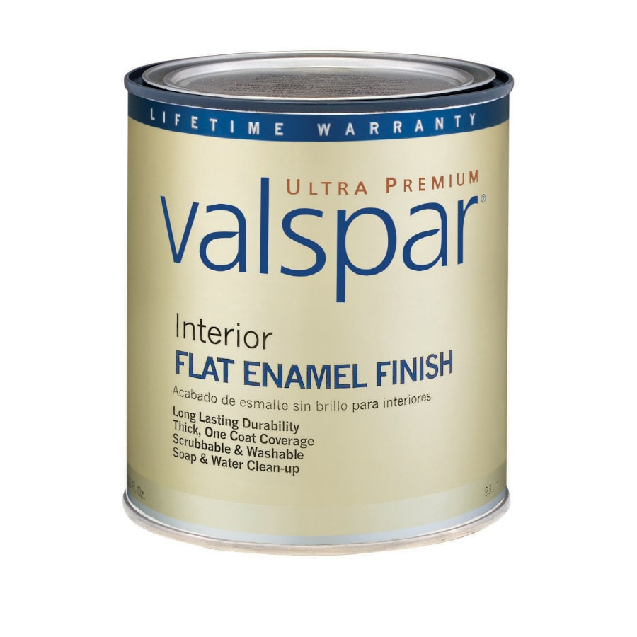 Valspar Ultra Premium 1-Quart Interior Flat Enamel Ultra White Latex-Base Paint